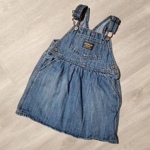 Oshkosh baby denim overall girl toddler size 24M